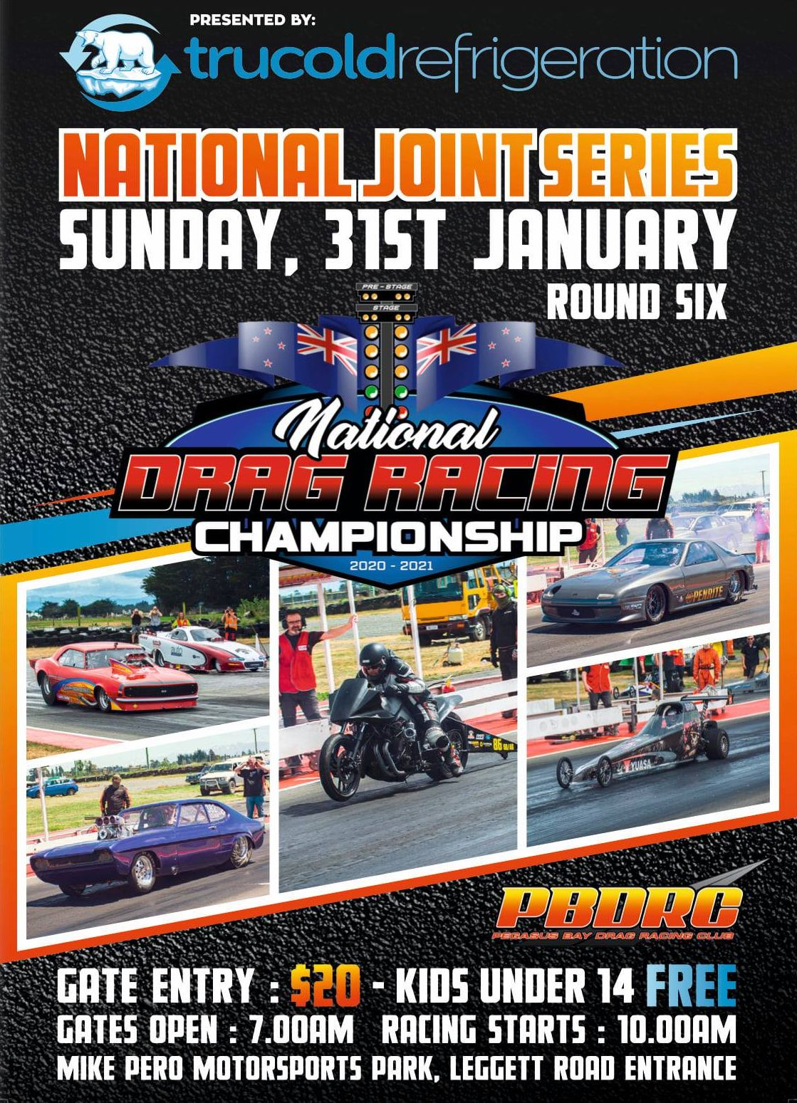 2020/21 National Drag Racing Series. Round 6 poster