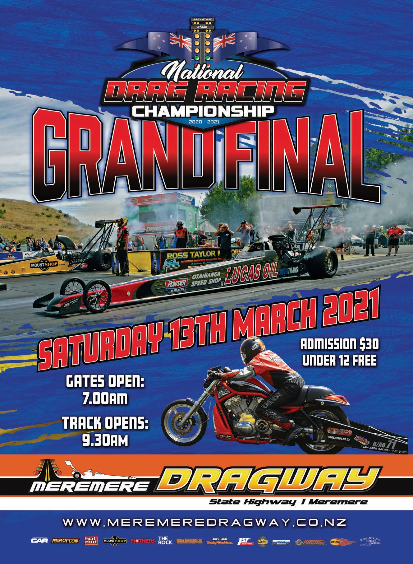 2020/21 National Drag Racing Championship. Round 9. Meremere Dragway. Auckland. 13 March, 2021.