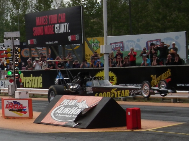 Bert King qualified fourth, with a wheelstand in his Goodyear dragster on every pass, with a best of 6.165 at 233.73.