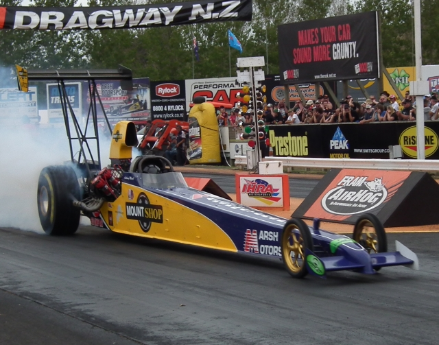 In top position was Anthony Marsh in the Marsh Motorsports / Mount Shop injected nitro dragster with a 5.517 at 264.65.
