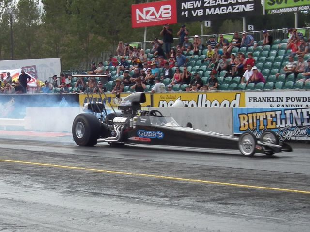 Russell Christofferson top qualified the Gubb Pumps dragster in Harcourts Pukekohe Competition
