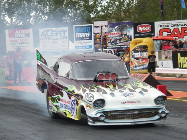 Simon Fowke recorded his first six, a 6.992, in the EzUp funny car
