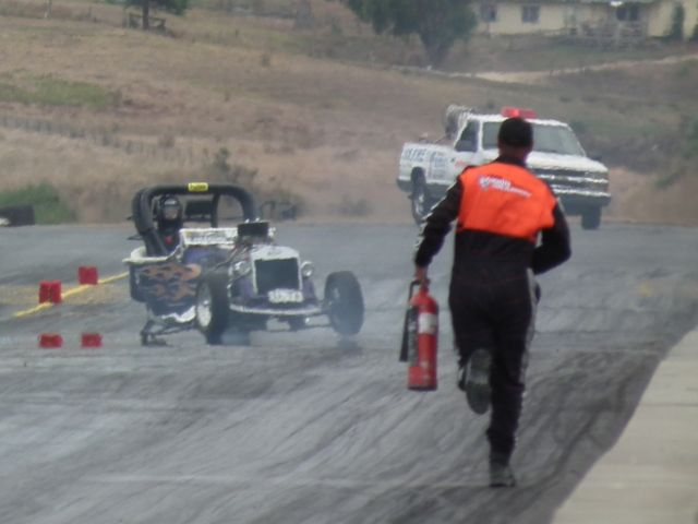 One of the lowlights was Todd Stevenson hitting the wall and ripping the diff out of his hot rod.